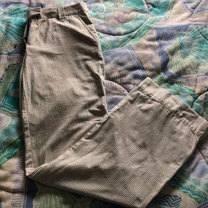 J.Crew Broken-in Striped Gray/White Chinos
